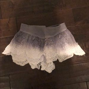 Free people blue ombre lace shorts